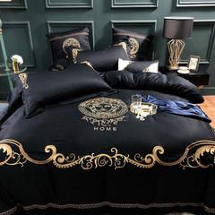 cotton black quilt cover black 220*240cm