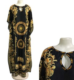African Dresses for Women Dashiki Print African Clothes Broder Riche Plus Size Bazin Broderie Dress FREE SIZE black