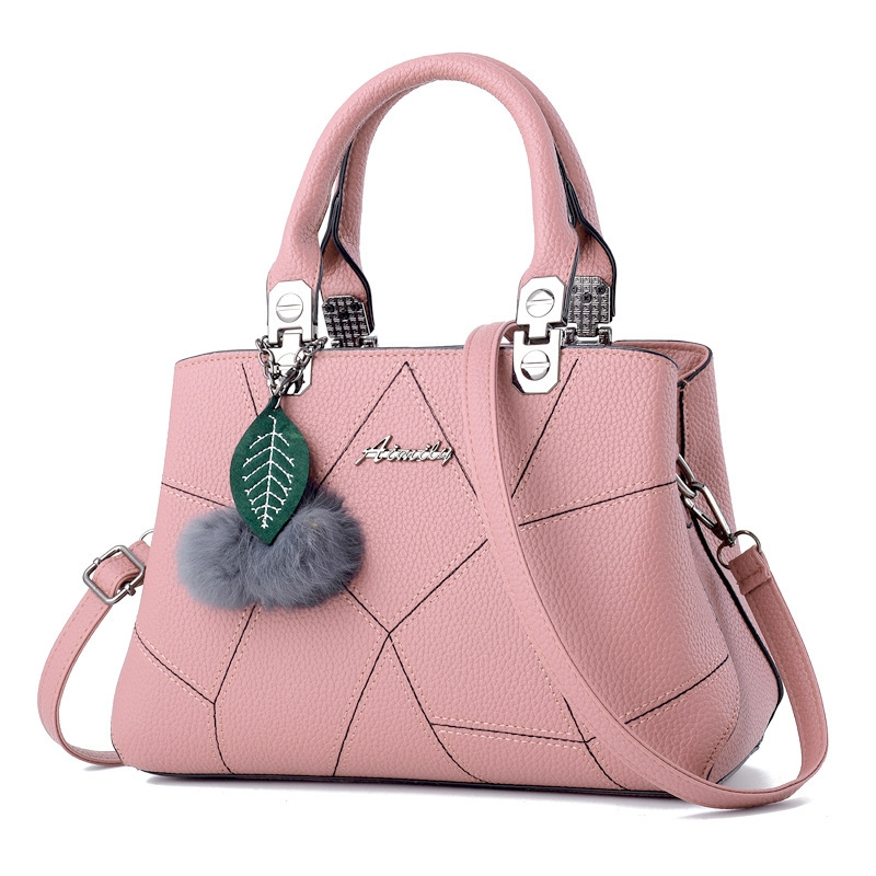 New style promotion in 2019, limited purchase, inexpensive,Handbags, Single Shoulder Slant Bags pink Light blue one size 11