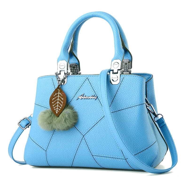 New style promotion in 2019, limited purchase, inexpensive,Handbags, Single Shoulder Slant Bags pink Light blue one size 8