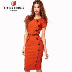 Limited new style promotions in 2019, Local offer,summer dresses,  ,pencil Dresses s orange