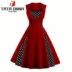 New Promotion in 2019, Crazy Buy,Women Robe Pin Up Dress,emale Dresses Elegant Tunic Vestido s Picture color 6