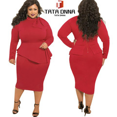 Promotion of New Fashion Styles, limited to 10,Promotion,Africa plus-size pure color women's dress 5xl red