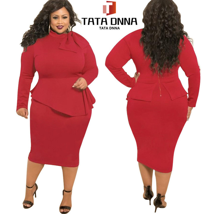 a6fabfc84e Promotion of New Fashion Styles, limited to 10,Promotion,Africa plus-size  pure color women's dress 5xl red