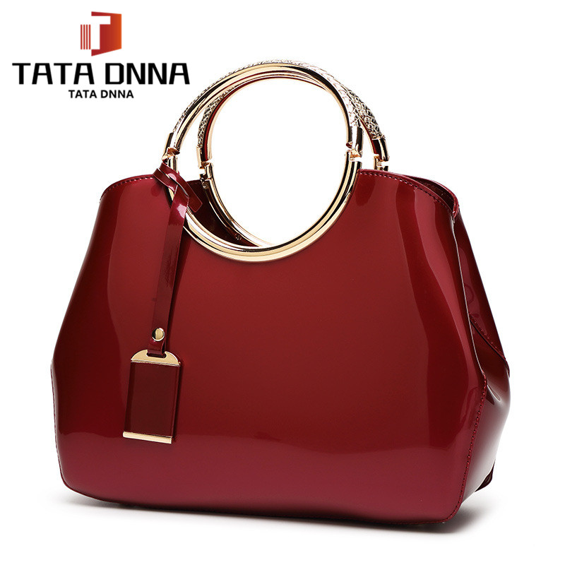 Promotion of new women's bags,Patent Leather Women Bag Ladies Cross Body Shoulder Bags Handbags Blue one size 12