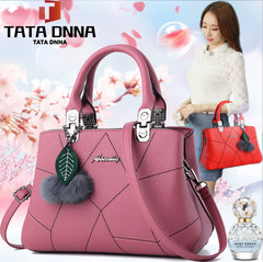 New style promotion in 2019, limited purchase, inexpensive,Handbags, Single Shoulder Slant Bags pink Rubber one size
