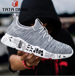 Explosion promotion in 2019, low price one day snapped up,Sneakers Men Trendy Shoes Male breathable gray 40