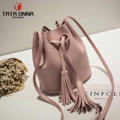 New Women Bag ,Drawstring Buckets Single Women Messenger Bag ,sling bag female pouch pink 18cm*15cm*19cm