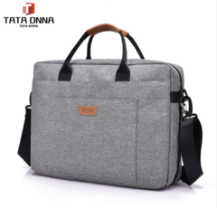 TATA Brand Men's Bag Briefcase,Men Canvas Business Briefcase Office Travel Messenger Gray one size
