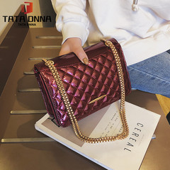 New chains super fire fashion Women Leather bag For girl Shoulder Messenger bag red one size