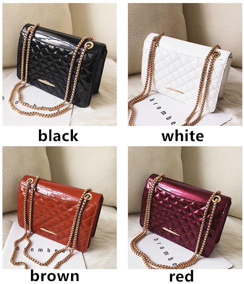 New chains super fire fashion Women Leather bag For girl Shoulder Messenger bag white one size 2