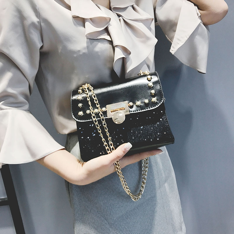 Promotion of New Fashion Styles/ Promotion/New chain messenger bag /shoulder bag white 25x19x12cm 36