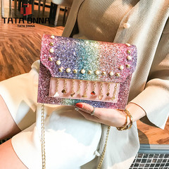 TATA New Fashion Women Shoulder Bag Chain Strap Handbags Clutch Bag Ladies Messenger Bags color one size A80525 PU