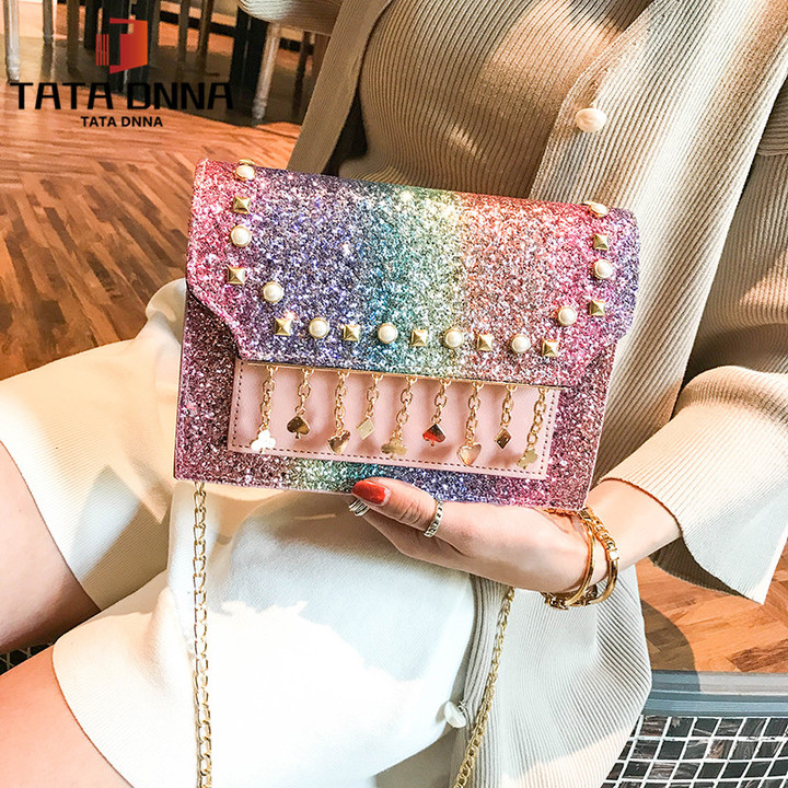Promotion of New Fashion Styles/ Promotion/New chain messenger bag /shoulder bag white 25x19x12cm 26