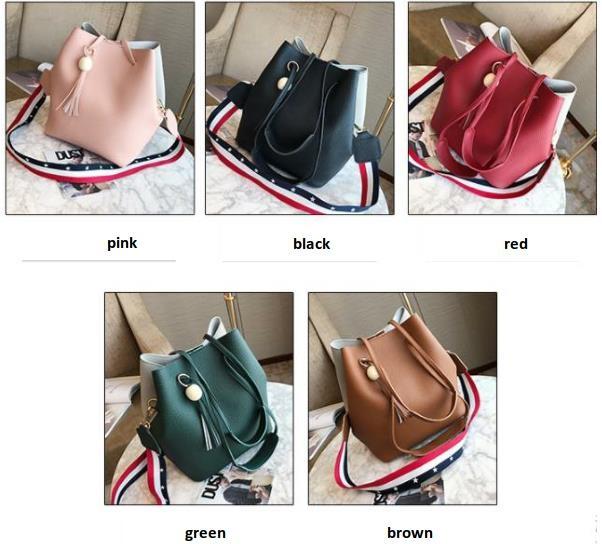 Women Bag Handbag Purse Ladies PU Leather Crossbody Bag 3Pcs/Leisure bag capacity big bag wholesale pink 22x25x16cm 2