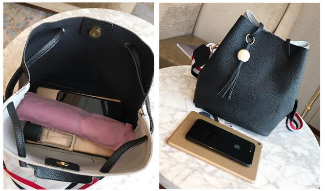 Women Bag Handbag Purse Ladies PU Leather Crossbody Bag 3Pcs/Leisure bag capacity big bag wholesale pink 22x25x16cm 32