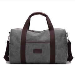 Casual Outdoor Camping Hiking Foldable Sport Bag Gym Bags Travel Camping canvas Sports Bag light gray one size