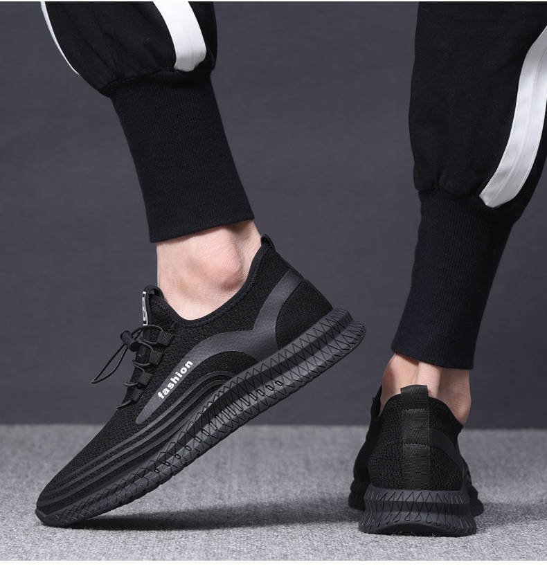 Men Casual Shoes Breathable Male ShoesShoes  Outdoor Shoes Sneakers Men black 39 5
