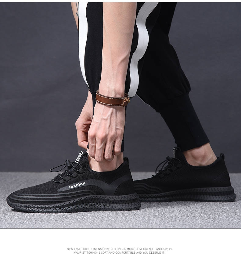 Men Casual Shoes Breathable Male ShoesShoes  Outdoor Shoes Sneakers Men black 39 4