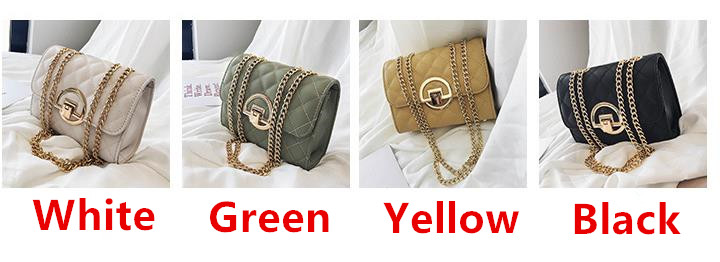 Fashion Small Square Bag Handbag 2019 High-quality PU Leather Chain Mobile Phone Shoulder bags Green one size 2