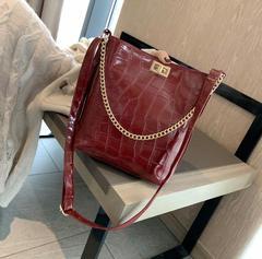 Crossbody Bags For Women Fashion Large Capacity Shoulder Bag Bucket Bag Wild  Diagonal Handbag red one size
