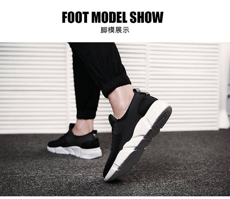 TATA Mens Sneakers Mesh Breathable Sports Shoes Men Jogging Shoes for Adualts black 48 11