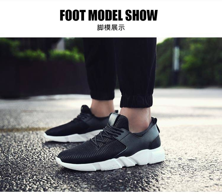 TATA Mens Sneakers Mesh Breathable Sports Shoes Men Jogging Shoes for Adualts black 48 9