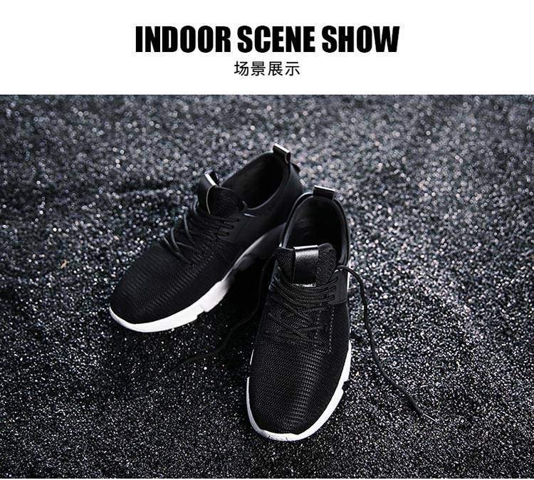 TATA Mens Sneakers Mesh Breathable Sports Shoes Men Jogging Shoes for Adualts black 48 5