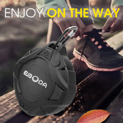 EBODA Shower Speaker, Portable Wireless Speaker, mini, Floating, Hands-Free, for Pool, Beach, Hiking black 4 x 3.7 x 1.6 inches