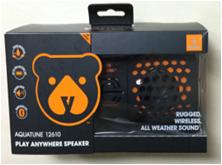 water-proof IPX6 wireless speaker yellow 1.8×0.68×0.82