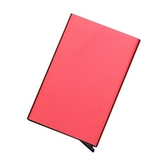 1pcs stainless steel business card case men's business credit card box automatic pop-up card package red 1pcs