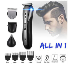 Kemei 3 in1 Rechargable Ear Nose Electric Shaver Beard Face Eyebrows Shaving Nose Hair Safe Shaver 01 normal