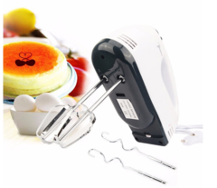GDTM 7 Speed Dough Hand Mixer Egg Beater Food Blender Multifunctional Electric Kitchen Mixer white 4.33*2.8*7.09