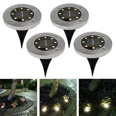 8LED ground lamp lawn ground lamp solar yard lamp ground lamp rainproof white 140mm 3W