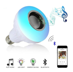 Wireless Bluetooth Speaker Bulb LED Lamp Smart Light Music Player Audio Remote Control Subwoofer colorful 12W normal