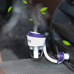 Dual USB chargers 50ml Car Humidifier ,,Car aromatherapy air purifier wth car chargers white one size