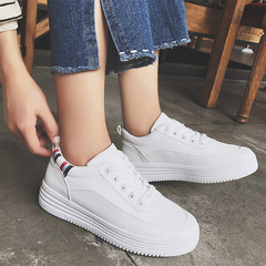 Women's fashion small white shoes, casual sports shoes, lady's board shoes White 39