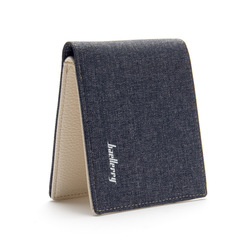 Men's short wallet, canvas wallet, simple and comfortable men's bag, men's card bag, coin wallet black 11*9*2cm
