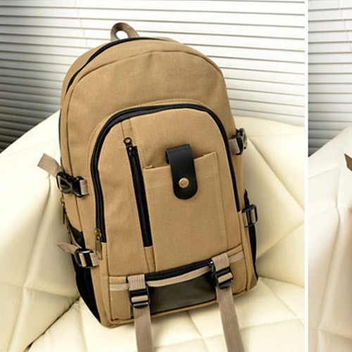 Men's waterproof backpack, leisure travel bag, large capacity sports backpack for men,men's backpack Dark coffee 44*28*16cm