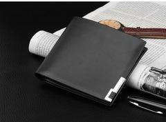 Slim short wallet for men, Men PU handbag, Multi-function simple purse coffee 11.5* 9.5 * 0.5 cm