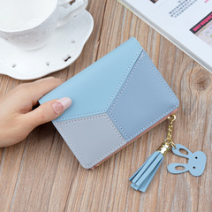 Short wallets for women, multi-function wallets, lady's purse and handbags, PU handbag for women blue 12 * 9 * 1.5 cm