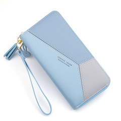 Fashion matching women's long purse,Multi-function wallet for women,handbag,card bag blue 19 * 9.5* 2.5 cm