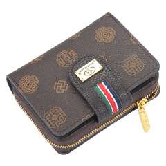 classic women's short purse, zipper bag, multi-functional lady's wallet,card bag,Super high quality coffee 11.5*9*3cm