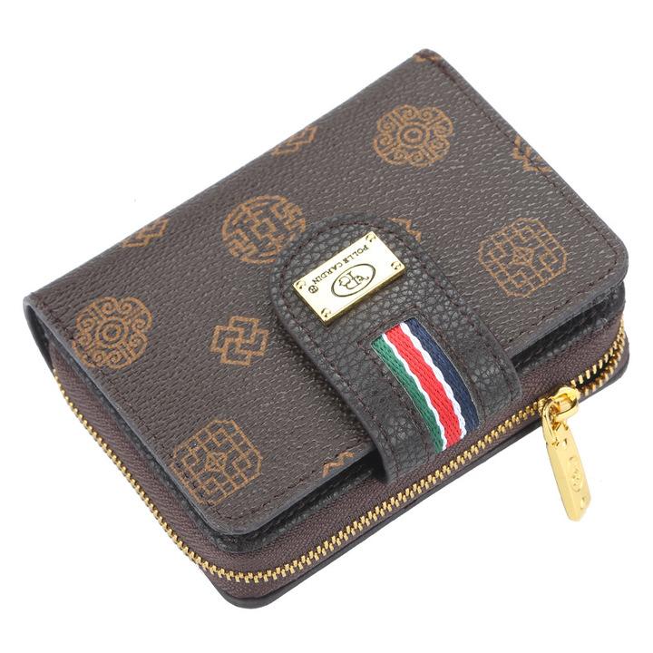 classic women's short purse, zipper bag, multi-functional lady's wallet,card bag,Super high quality coffee 11.5*9*3cm
