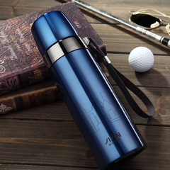 500ML bullet thermos cup with cover, stainless steel thermos cup, portable water cup,Good tea cup blue 500ml