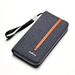 Men Wallets Card Holder men's bags Male Wallet Large Capacity Big Brand Luxury Purse For Men blue 19.7 * 10.5 * 2.7 cm