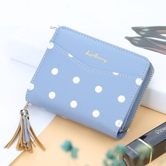 Stylish fringed zipper purse for ladies,women's bags, wallets for women, coin purse, card bag Blue 11*9*3cm
