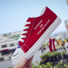 Classic women's canvas shoes , Fashion skateboard shoes,women's shoes,lovers Skateboard shoes Red 36