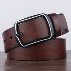 High quality retro PU men's belt, retro pin buckle belt,men belts,fashion accessories Brown 105`125cm