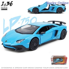 Simulation 1:36 lamborghini aventador sports car alloy car model, toy cars with backpowern,toys kids Blue 12.5*5.5*3cm